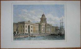 1842 Print CUSTOM HOUSE, DUBLIN, IRELAND (#4) - Autres Collections