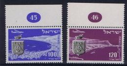 ISRAEL: 1952, Mi 67 + 68, Sheetmargins With Number, MNH/** - Israël