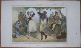 1844 Print SPANISH DANCE, SPAIN (#77) - Andere Verzamelingen