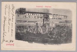 Ungarn Budapest Blocksberg Donau Mit Raddampfer 1901-09-06 - Hongrie