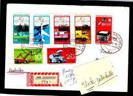 1665-66-67-68-1655-56 Des Années 1970 - Enveloppe  Oblitérée  De  7  Timbres. - DDR