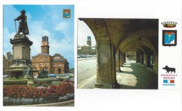 2 CPM - CHARLEVILLE MEZIERES (08) Les Arcades De La Place Ducale Et La Place (nombreuses Voitures) - Charleville