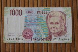 ITALIE 1000 Lires 3/10/1990 ITALIA -1946 : Royaume > Biglietto Di Stato - [ 2] 1946-… : République