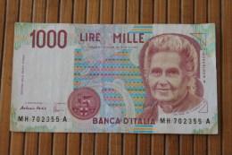 ITALIE 1000 Lires 3/10/1990 ITALIA  Royaume > Biglietto Di Stato > Italia –  Mille Lires - [ 2] 1946-… : Républic