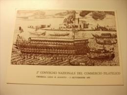 NAVE SHIP FESTA DELLA SENSA  A S. NICOLO DI LIDO VENEZIA LIDO 1973  2° CONVEGNO NAZIONALE DEL COMMERCIO FILATELICO - Chiatte, Barconi