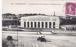 Saint Quentin   Monument Aux Morts Et L'étang D'isle - Saint Quentin