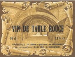310Ce    04 Barcelonnette Etiquette De Vin De Table épicerie Giavelli SARL Rouit - Sin Clasificación