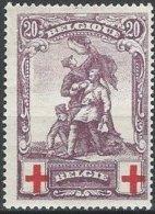 BELGIQUE - 20 + 20 C. Croix-Rouge Neuf - 1918 Croix-Rouge