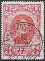 BELGIQUE -  Croix-Rouge - 10 + 10 C. Albert Ier Oblitéré - 1918 Croix-Rouge