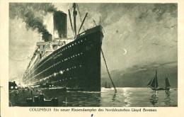 AK Riesendampfer Columbus 1930 Schiff Dampfer Norddt. Lloyd Bremen - Paquebots