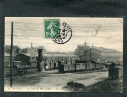 ROUBAIX LA GARE DE MARCHANDISES COTE VOIES AVEC TRAINS   CIRC  OUI  / 1910 - Roubaix