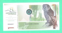 Calabria  EcoAspromonte - Banconote Locali Ad Uso Turistico Anno 2004 Con Scadenza. FDS - Italia