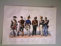 Litho Ancienne Costumes De L'armée Françaises, Troupes Corses Par Ch.Vernier. - Lithographies