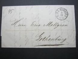1864, Brief Aus Hamburg Nach Schweden - Hamburg
