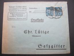 1923, Mehrfachfrankatur Auf  Brief Aus Braunschweig - Germany