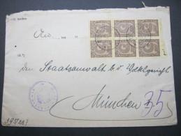 DIENST, 1923, Mehrfachfrankatur Auf  Brief Aus München - Germany
