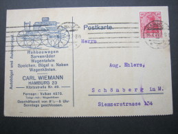 1921, HAMBURG, Firmenkarte - Germany