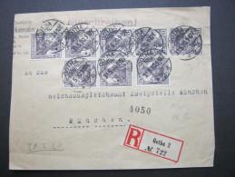 1920, Mehrfachfrankatur Aus Gotha, Nur Vorderseite - Germany