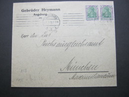 1922, Mehrfachfrankatur Aus Augsburg - Germany
