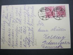 1921, Mehrfachfrankatur Aus Hamburg Nach Dänemark - Germany