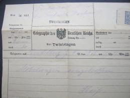 1928, TWISTRINGEN,, Telegramm - Germany