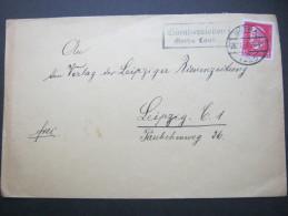 1928, GÜNTHERSLEBEN - Gotha Land Land, Landpoststempel Auf Brief - Germany