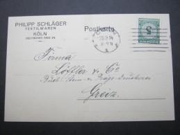 1924, Köln, Firmenkarte - Germany