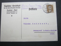 1927, BEESKOW, Firmenkarte - Germany