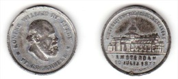 PAYS-BAS / NETHERLANDS: Medal - Artisans Exhibition Amsterdam (1877) XF Zn