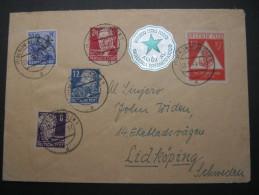1949, Brief Aus Westberlin Mit SBZ Marken Nach Schweden - [5] Berlin