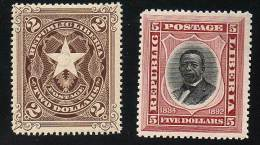 LIBERIA 1882 PRESIDENT JOHNSON AND STAR SC# 48-49 FRESH MNH CV$38.00 - Liberia