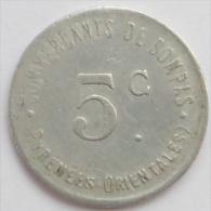Pyrénées-Orientales 66 Bompas  5 Centimes Elie 10.1 - Monetary / Of Necessity