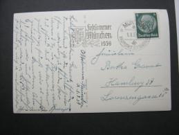 1939, München - Festsommer, Werbestempel Auf Karte