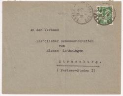 P921 - Dernière Poste FRANCAISE - SAVERNE Bas Rhin - 31 Juillet 1940 - Type Iris - - Elsass-Lothringen