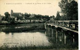 N°34853 -cpa Marcilly Sur Seine -confluent De La Seine Et De L'Aube- - Autres Communes