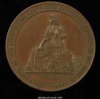M00408 TRAIN / BAHN Vorwaerts Mit Deutschem Fleisse Et Allégorie (1844) Et Allégorie De La Germania Au Revers, 50 G - Autres