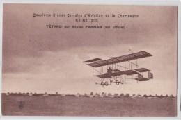 REIMS 1910 - Deuxième Grande Semaine D'Aviation De La Champagne - Tétard Sur Biplan Farman - Feldpostexpedition 1915 - Reims
