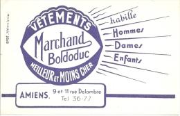 Buvard  Vetements Marchand Boldoduc Amiens Somme Textile Hommes Dames Enfants - Textile & Clothing
