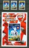 Bahrain 2003,3V + Block,horses,pferde,paarden,cheveaux,,MNH/Postfris(L1223ca) - Horses