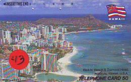Télécarte Japonaise HAWAII Related (43) - Hawaï
