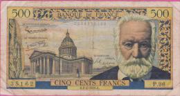 Billet 500 Francs VICTOR HUGO Du 06 02 1958 - 500 F 1954-1958 ''Victor Hugo''