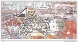 Carte Maximum TAAF 40 Eme Anniversaire Expédition Polaire 1987. - FDC