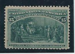 USA 1893 - Yvert #89 Sin Goma (*) - 1847-99 Emisiones Generales