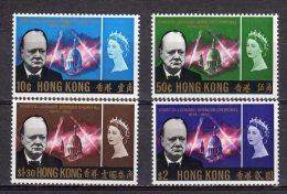 (S0537) HONG KONG, 1966 (Sir Winston Churchill Memorial). Complete Set. Mi ## 218-221. MNH** - Nuevos