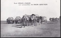 CPA - (Mongolie) Raid Pékin Paris Sur Automobiles De Dion Bouton - 4 D´une Caravane De Chameaux Attelés (désert De Gobi) - Mongolie