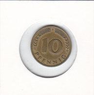 10 PFENNIG 1950 F - 10 Pfennig
