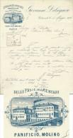 1896 PONTREMOLI  PASTE ALIMENTARI PANIFICIO G.DELSIGNORE  - LETTERA  AUTOGRAFA  PUBBLICITARIA  CON VEDUTA STABILIMENTO - Reclame
