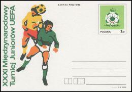 "Poland 1978, Postal Stationery ""XXXI International Youth Tournament UEFA"", Cp 695, Mint - Stamped Stationery"