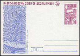 "Poland 1977, Postal Stationery ""International Telecommunication Day"", Cp 673, Mint - Stamped Stationery"