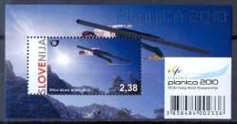 SI 2010-842 SFWC PLANICA 2010, SLOVENIA, S/S, MNH - Skisport